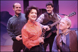 Kathy St. George stars as Vienna with (from left) John Porcaro, Christopher Cook and Drew Poling