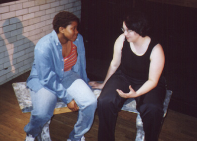 Janel Moore as Rachel and Michelle Capasso as Sue