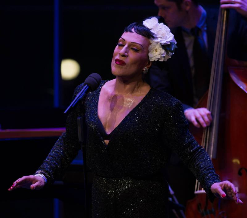 Joey Arias in tribute to Billie Holiday