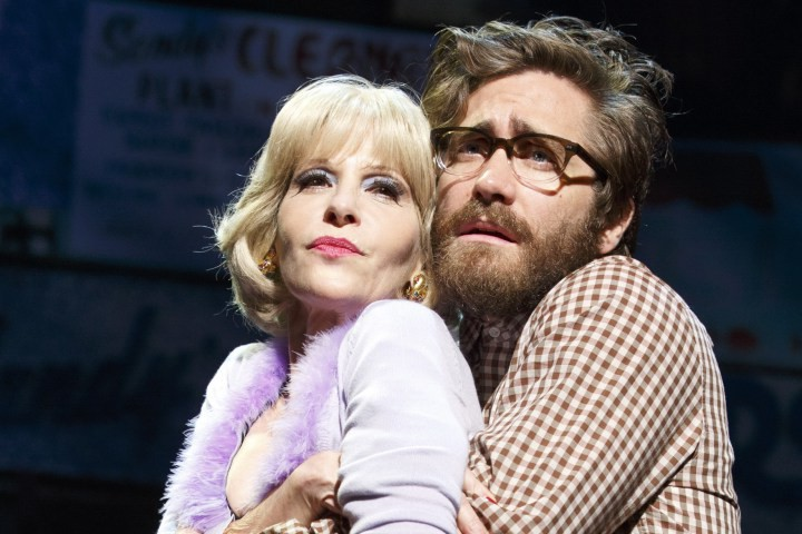 Ellen Green and Jake Gyllenhaal in Little Shop of Horrors. Photo: Joan Marcus